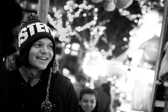Chrsitmas, Portrait, Bokeh, Winter, Lights, Depth of Field, Snow,