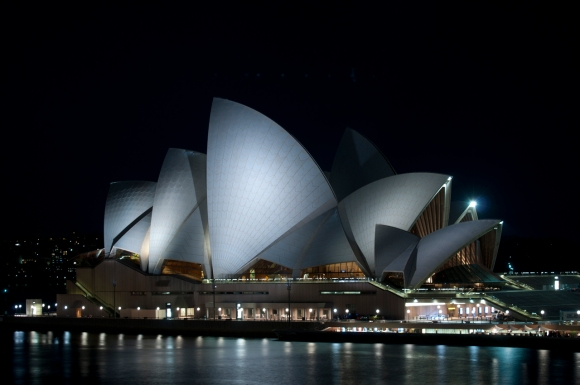 Sydney, Harbour Bridge, Opera House, Night