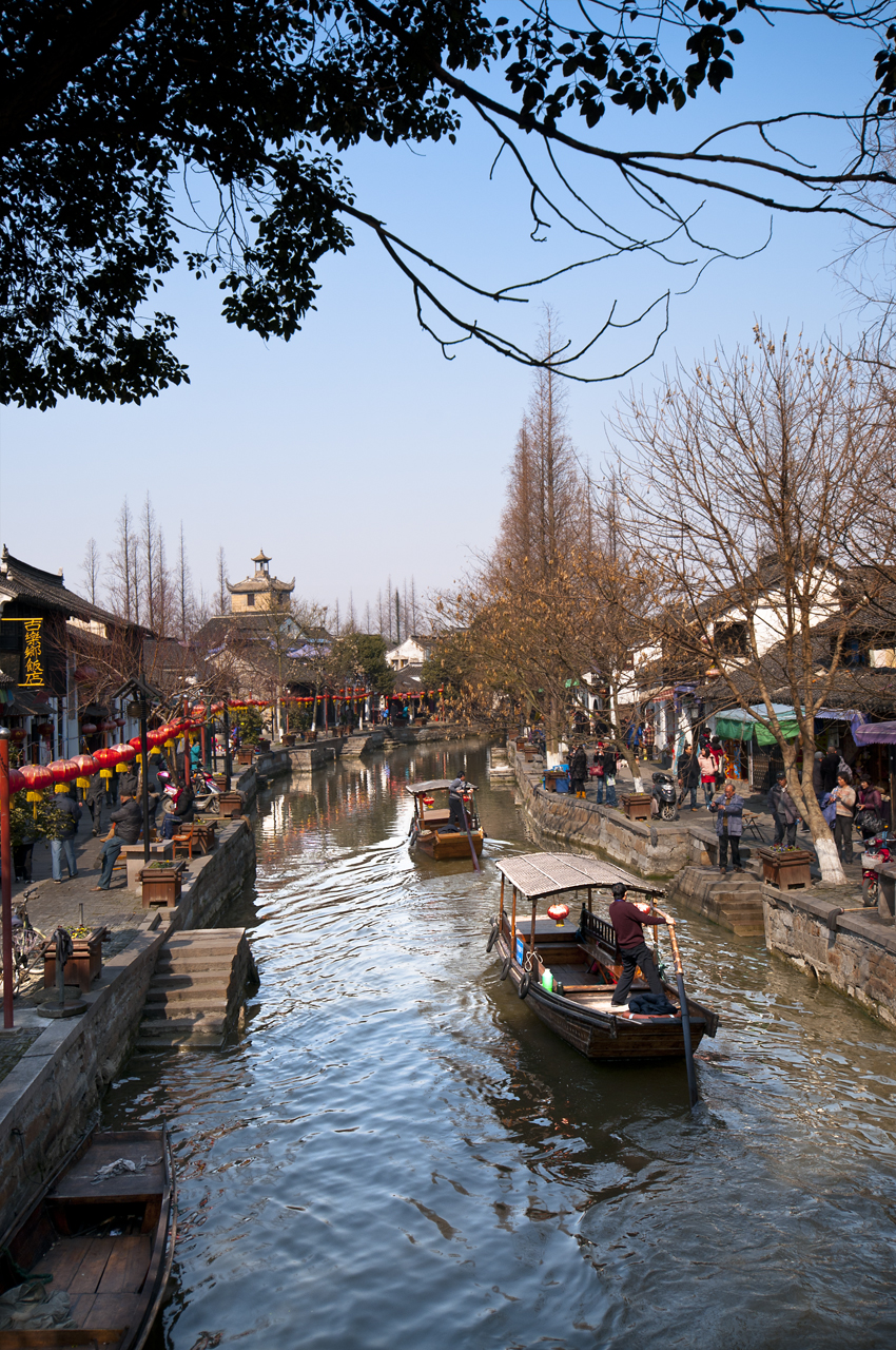 Zhujiajiao, Shanghai, China, Waterways, Boats, Paddle, Canal, Streets