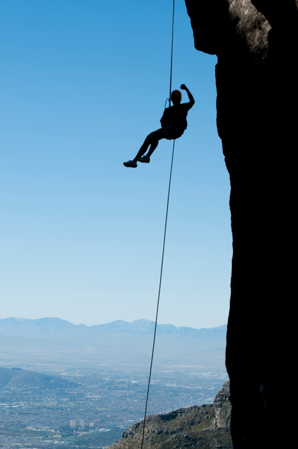 Cape Town, South Africa, Table Mountain, Abseil, Abseiling, Rope, Climbing, Rock Climbing,